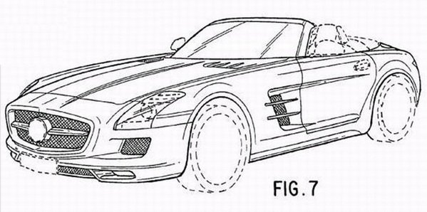 Mercedes SLS AMG Roadster Revealed In Patent Drawings News