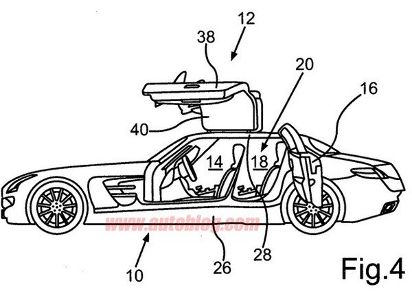 German Patent Drawings Suggest A Four-door SLS AMG In