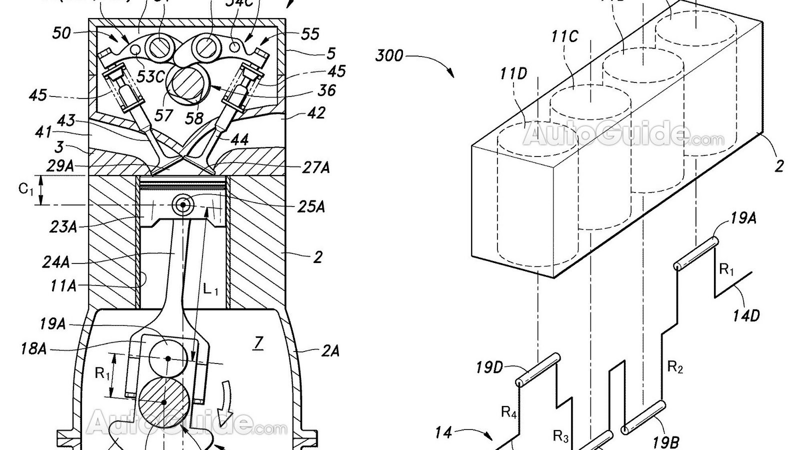 Honda Patents Engine With Different Sized Cylinders