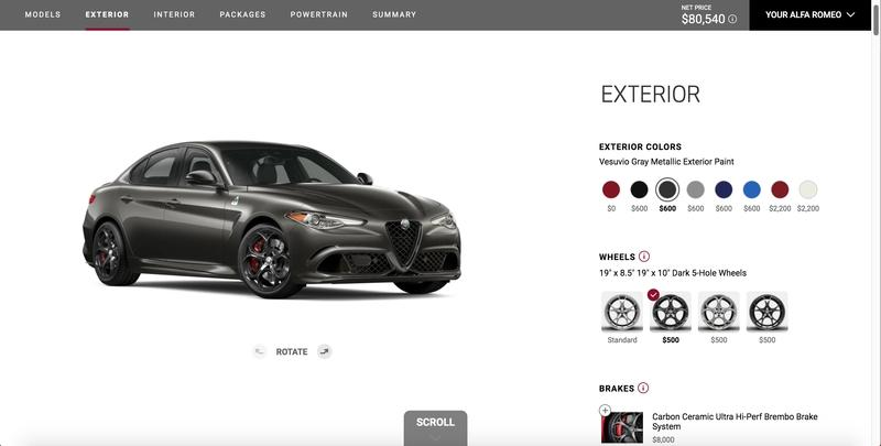 I Configured The 2019 Alfa Romeo Giulia Quadrifoglio NRing