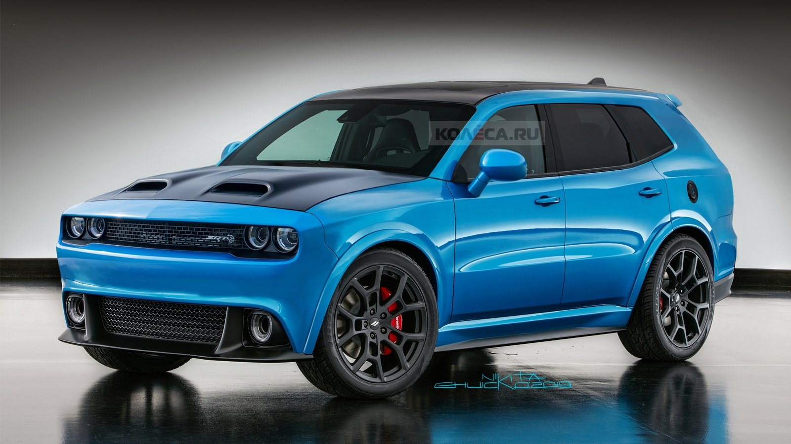 A Crazy Russian Artist Rendered A Dodge Challenger Based
