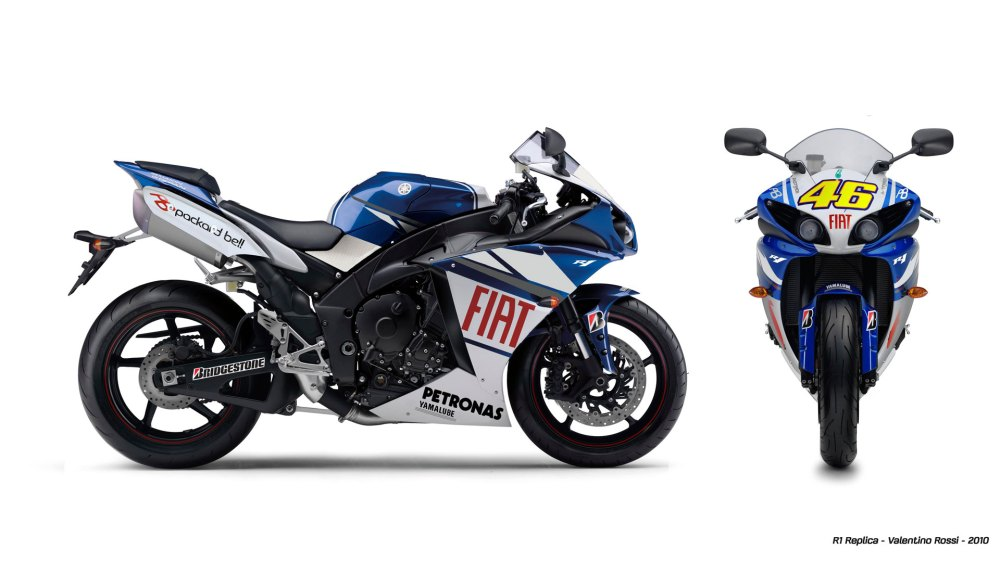 medium resolution of  has released just four different race replicas of their four motogp riders so the valentino rossi and jorge lorenzo replicas feature the fiat yamaha