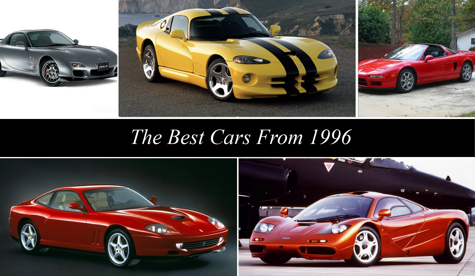 hight resolution of the best cars from 1996 top speed