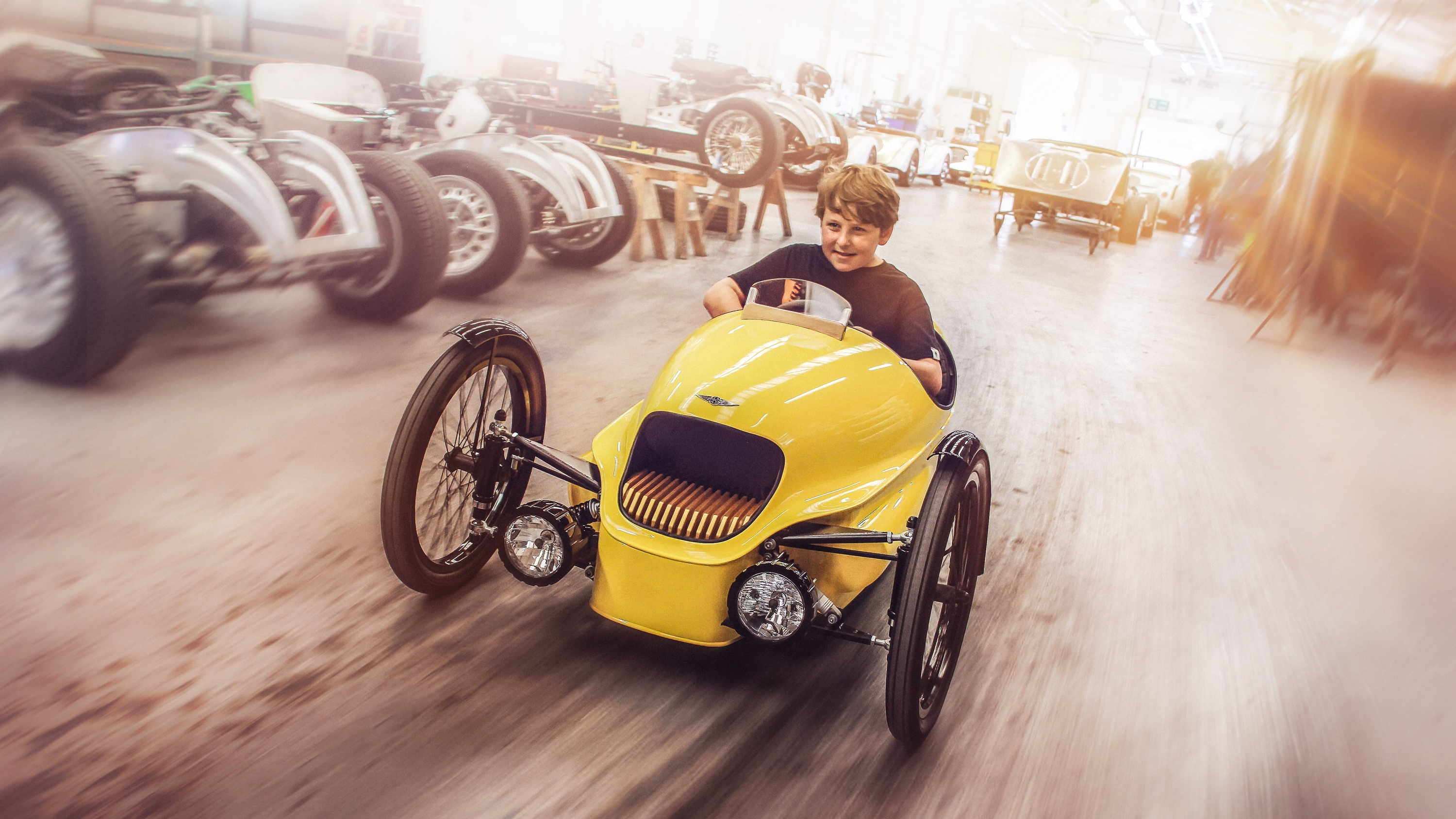 Start Your Kids Early With Morgans Kid Sized Three Wheeler Pictures