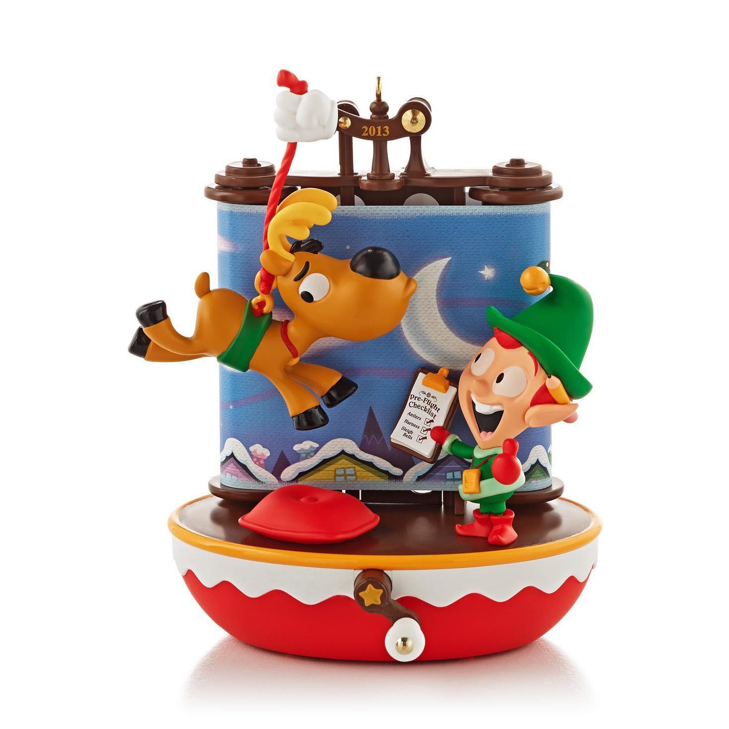 Hallmark Keepsake Magic Ornament 2013 Santas Reindeer