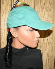 baseball cap with attached black