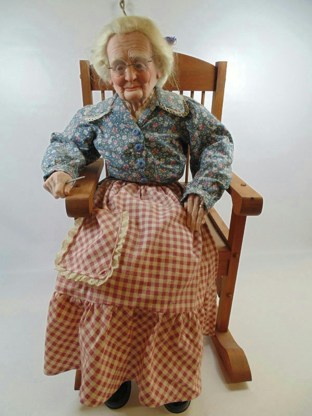 grandma rocking chair desk combo realistic porcelain doll in 287 ebay