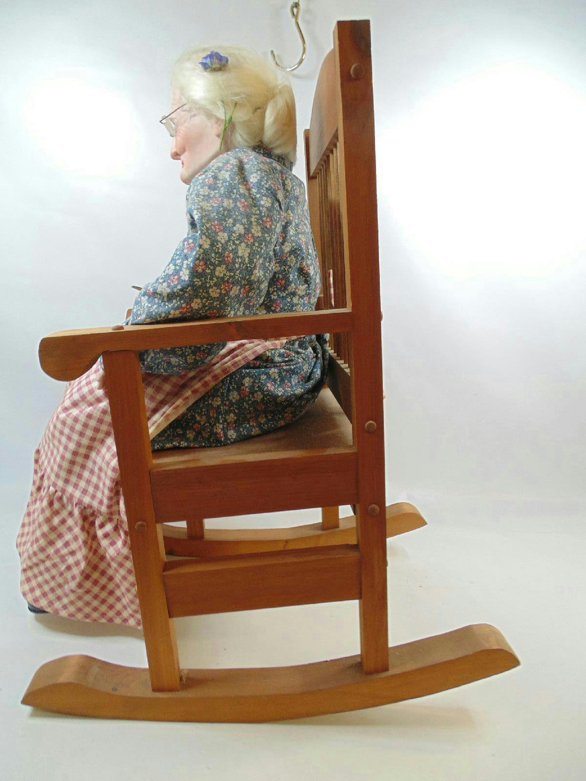 grandma rocking chair portable folding high realistic porcelain doll in 287 ebay