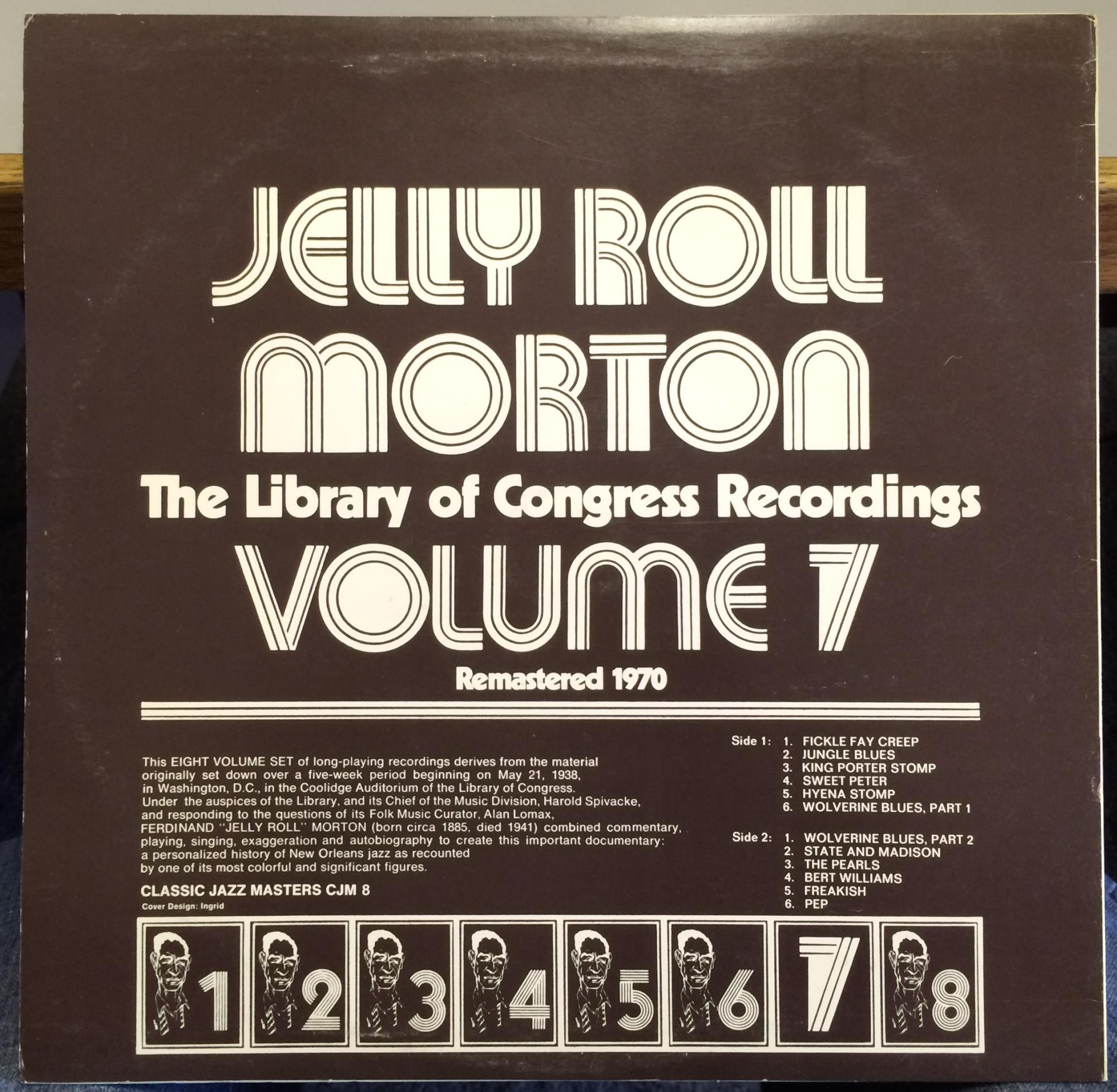 Jelly Roll Morton Library Of Congress Recordings Vol 7 Lp Mint Cjm 8 Sweden