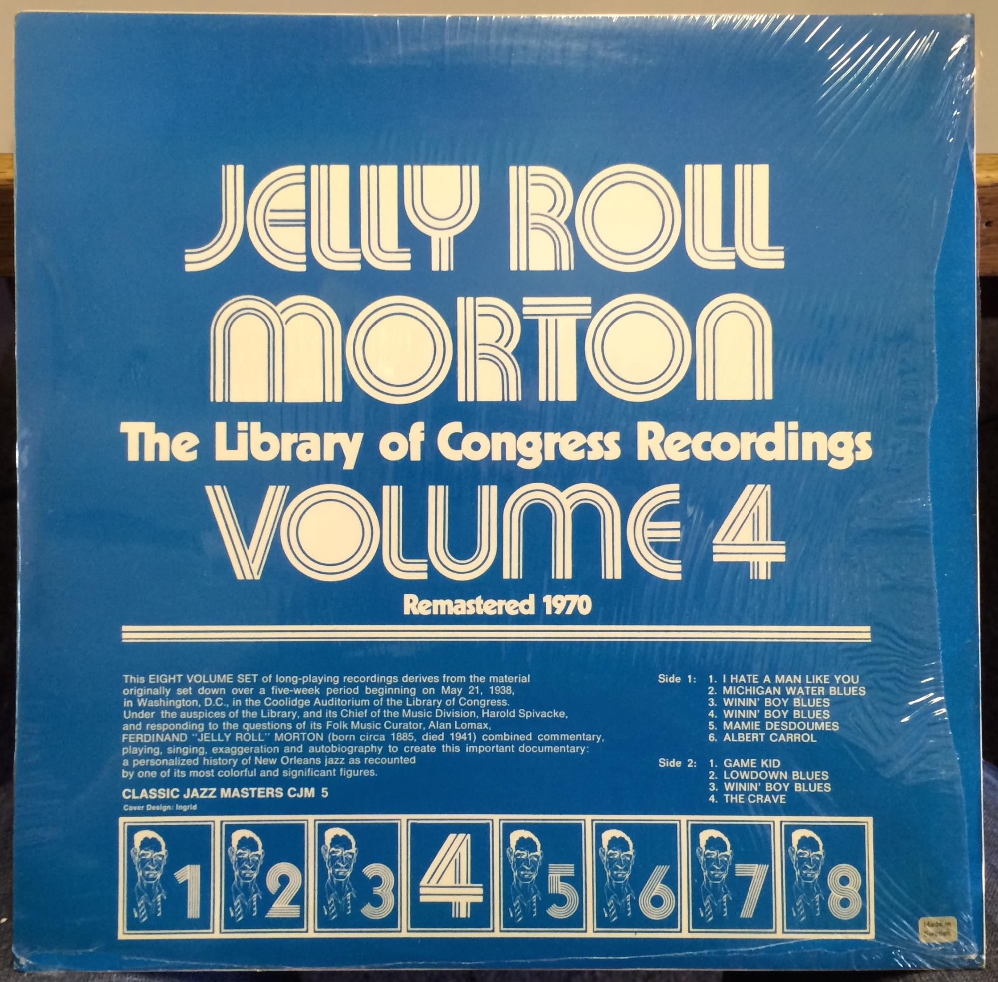 Jelly Roll Morton Library Of Congress Recordings Vol 4 Lp Sealed Cjm 5 Sweden