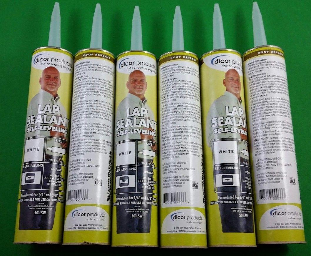 Dicor Lap Sealant White RV Camper Rubber Roof Repair Self Leveling 501LSW6  eBay