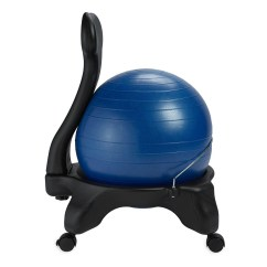 Yoga Ball Chair Exercises Covers For Dining Chairs With Arms Gaiam Balance Ergonomic Back Support Fitness