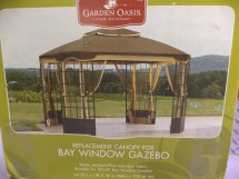 Garden Oasis Replacement Canopy 10' X 12' Bay Window
