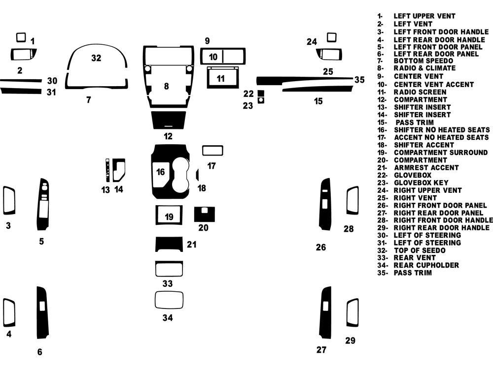 Rdash Dash Kit for Toyota Camry 2012-2014 Auto Interior