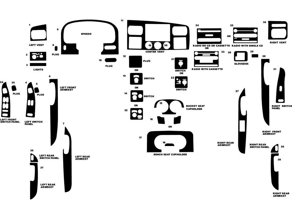 Rdash Dash Kit for Ford F-250 / F-350 2005 Auto Interior