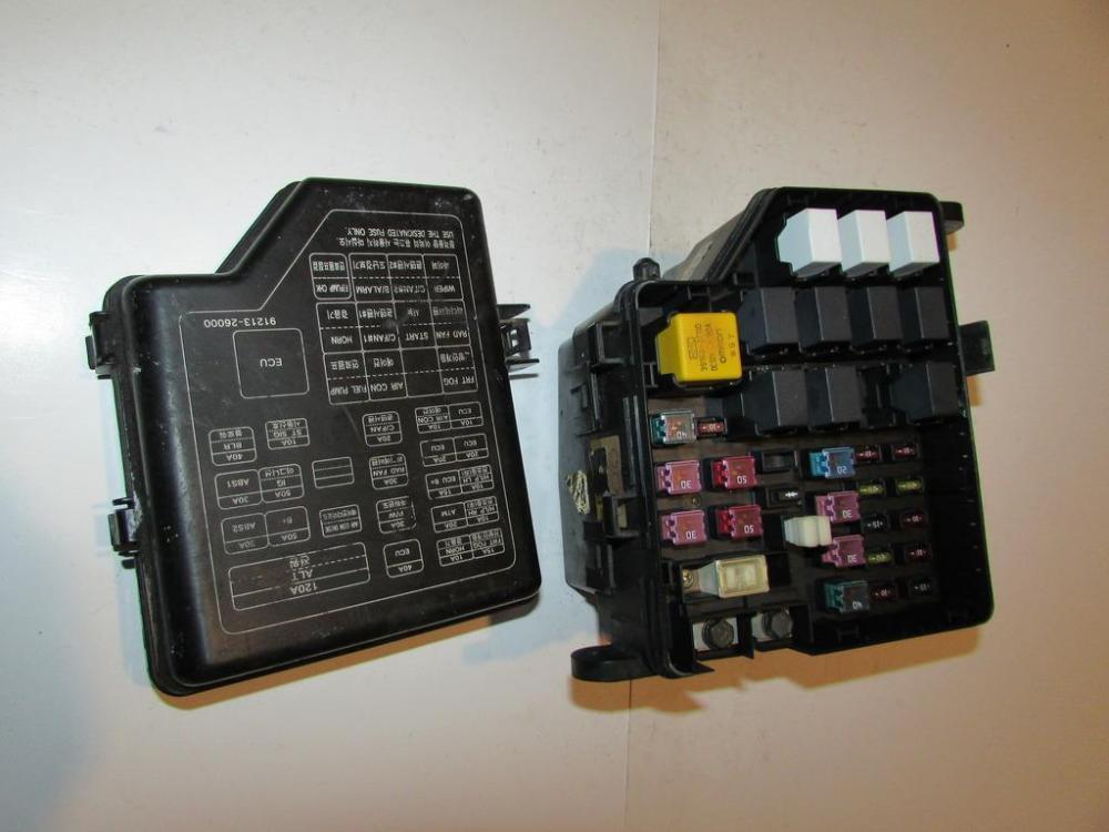 medium resolution of 01 05 hyundai santa fe 2 7l v6 under hood relay fuse box block warranty 1622