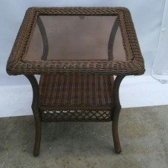 Hampton Bay Swivel Patio Chairs Victorian Style Chair Covers Pallet Lot Of 4 Wicker W