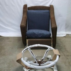 Hampton Bay Swivel Patio Chairs Accent Chair Living Room Pallet Spring Haven Wicker