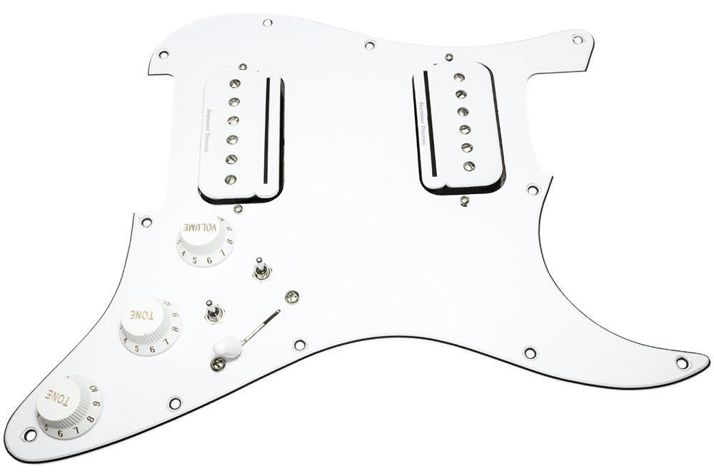 HDCustom Loaded Strat Pickguard, Splittable Seymour Duncan