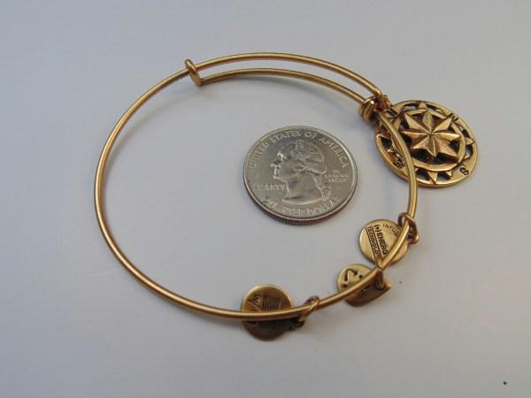 Gold Tone Alex And Ani Jewelry Bangle Bracelet Compass