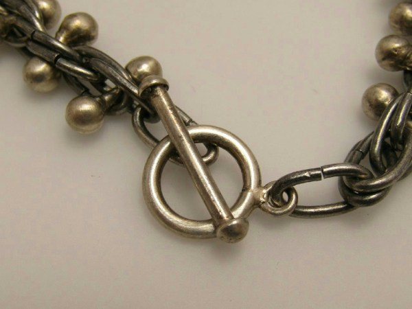 Sterling Silver Jewelry Necklace Modern Industrial