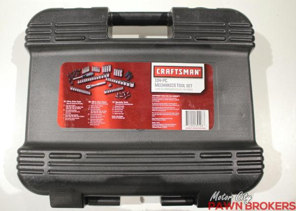 Craftsman (9-32104) - Made in USA - 104-pc Mechanics Tool Set