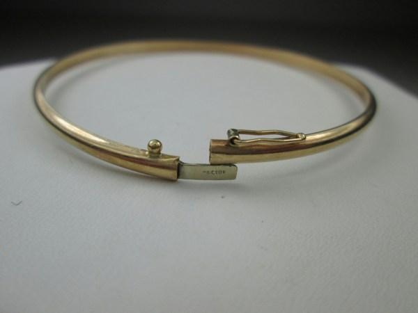 10k Yellow Gold Thin Jewelry Bangle Bracelet Plain Design Engraveable