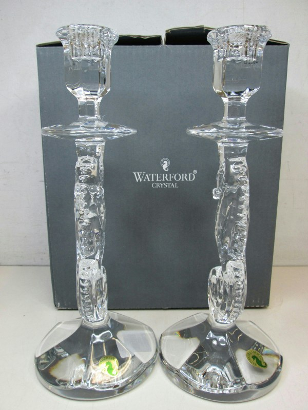 Waterford Crystal Seahorse Candlestick