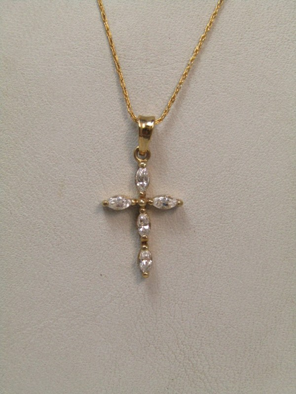 10k Yellow Gold Jewelry Necklace 18