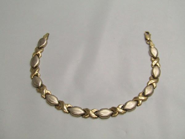 10k Yellow Gold Jewelry Bracelet Xo Oval Links