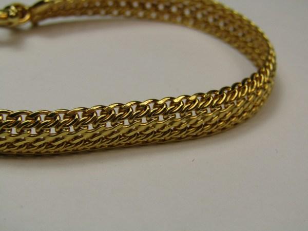 14k Milor Italy Yellow Gold Unique Mesh Chain Link Jewelry Bracelet