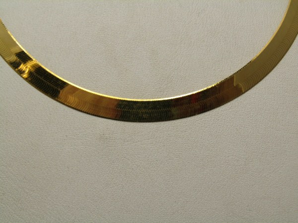 10k Yellow Gold Jewelry Herringbone Chain Necklace 18