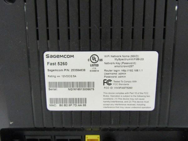 Sagemcom Fast 5260 Wps