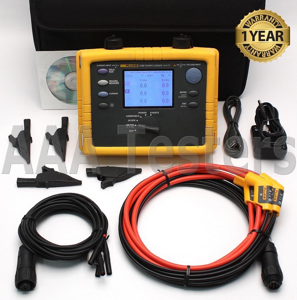 Fluke 1735 Three Phase Power Logger Analyst 10.24 kHz | eBay
