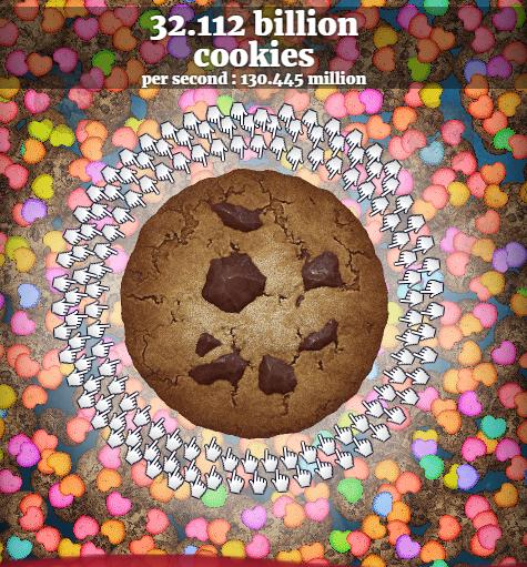 Cookie Clicker hearts