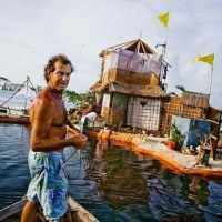 Environmentalist Builds Floating Island with More than 100,000 Plastic Bottles
