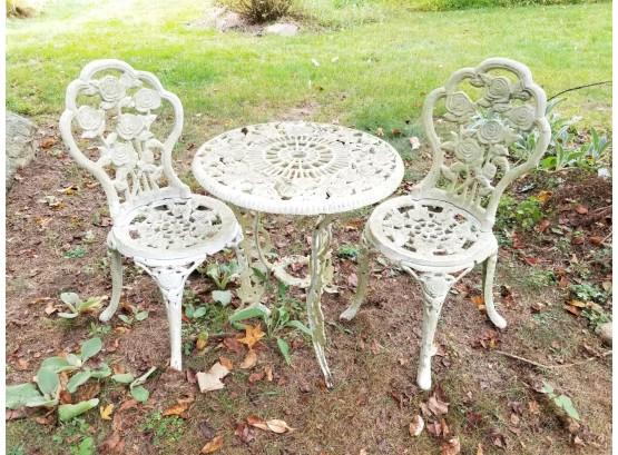 3 pieces antique cast iron garden patio
