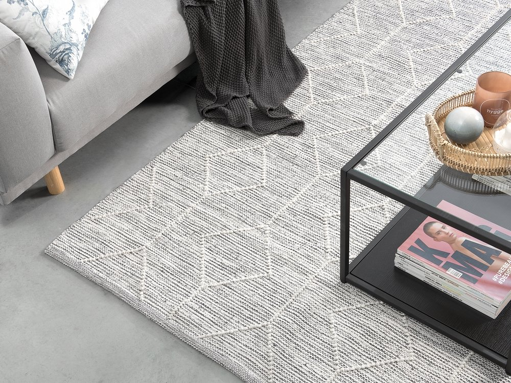 teppich edremit grau beige 140x200 cm ch
