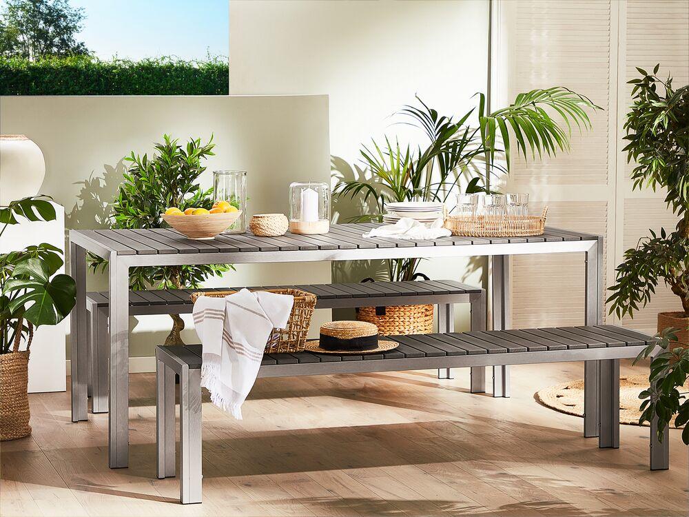 aluminium kunstholz gartenmobel nardo grau ch