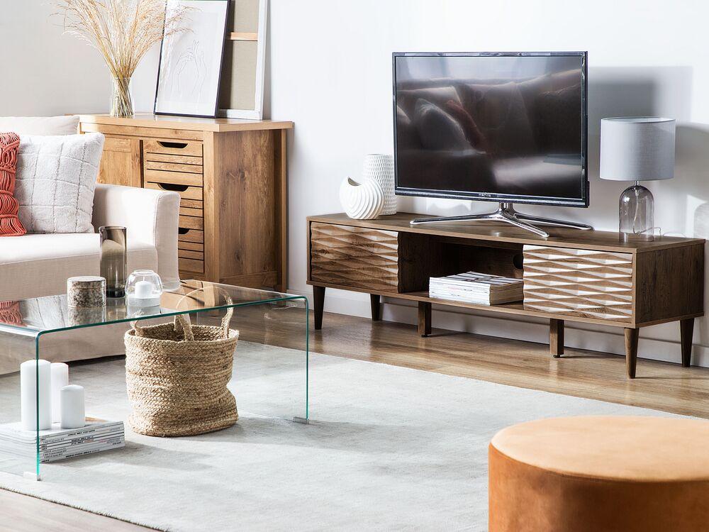 tv cabinet dark wood kayan ch
