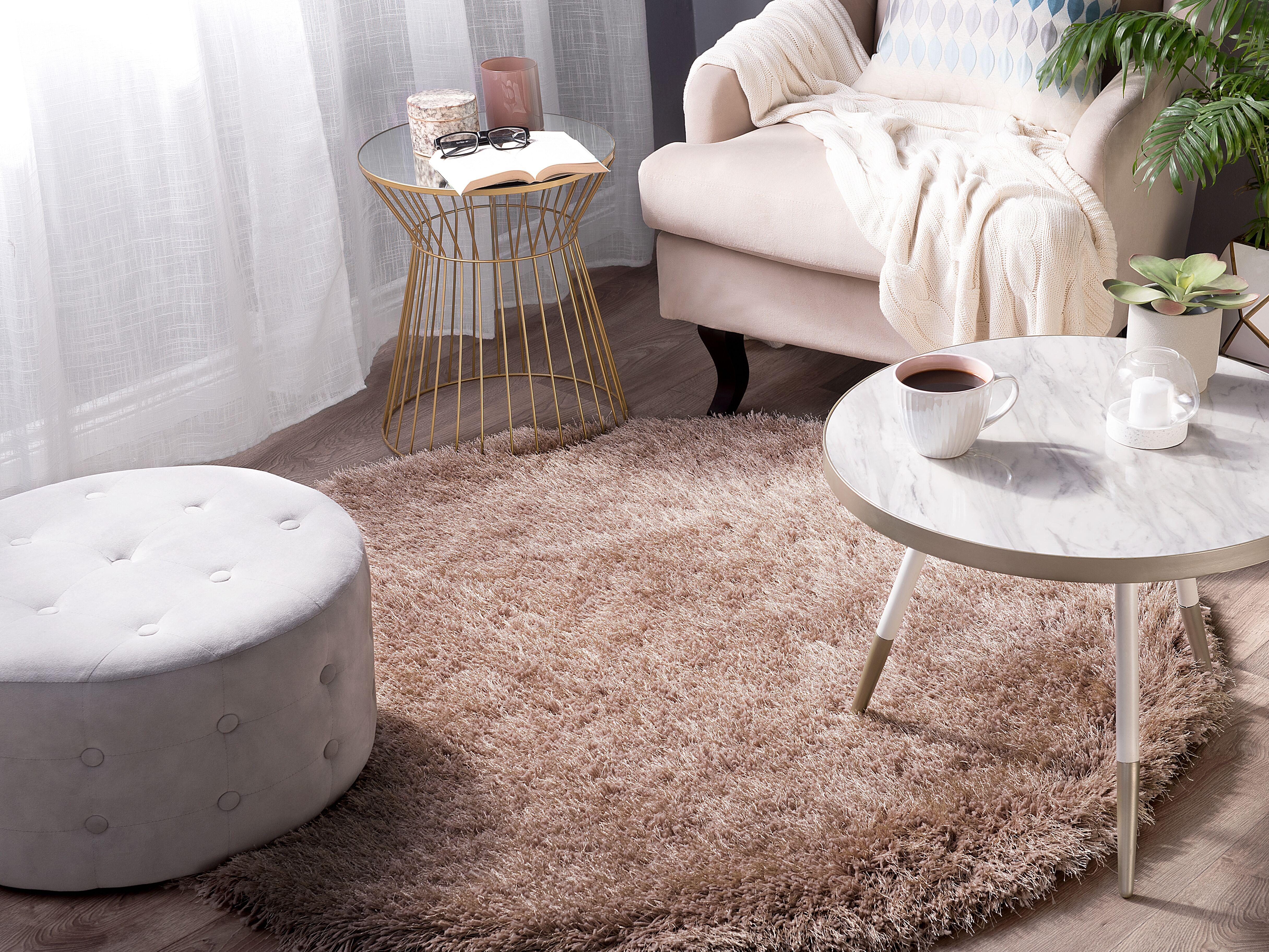 tapis rond beige cide beliani ch