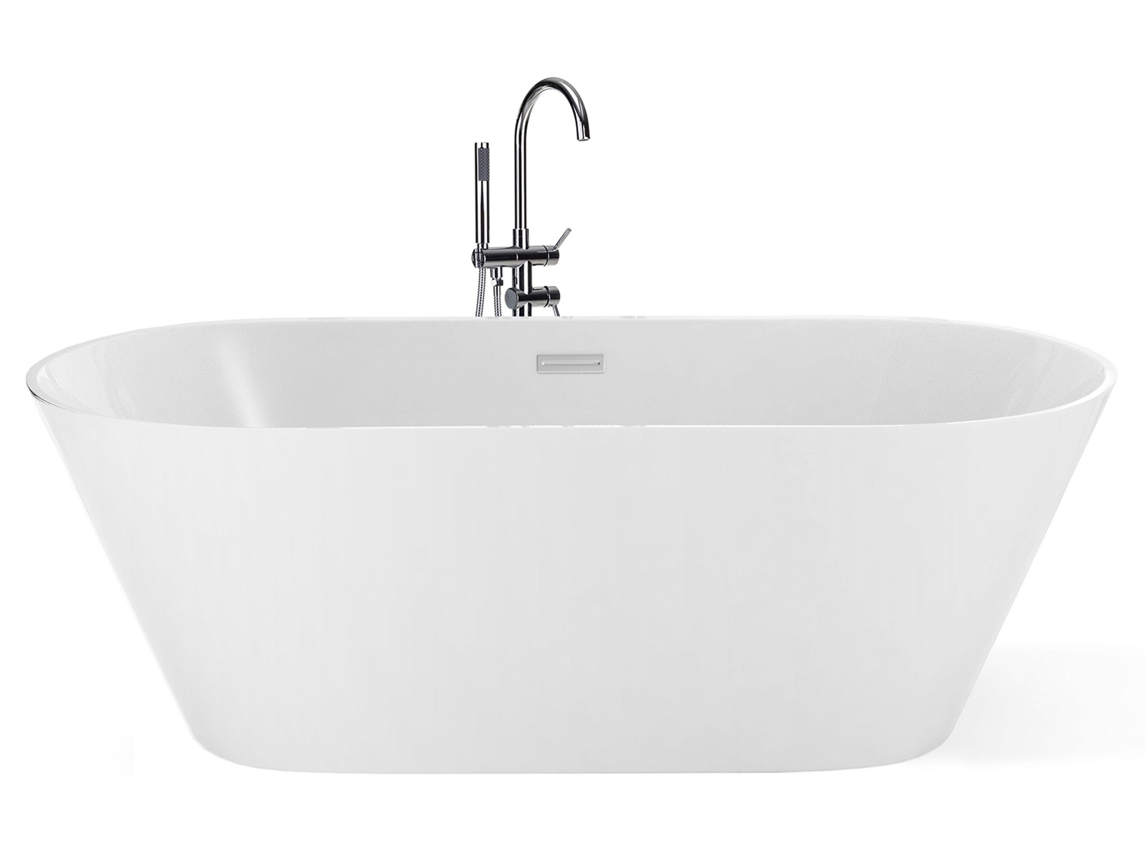 baignoire ilot ovale 160 cm en acrylique blanc bora bora