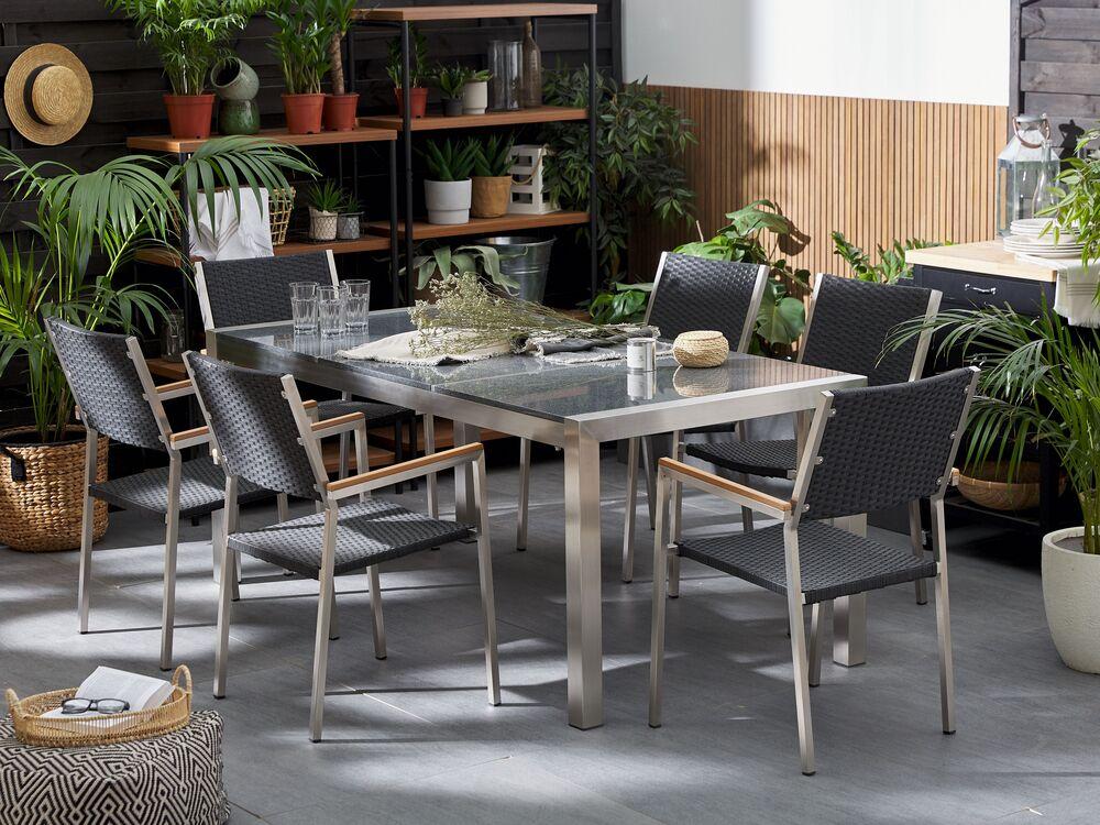 garden table 180cm stainless steel
