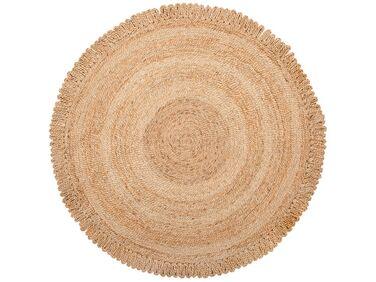 tapis rond 140 cm en jute beige erence