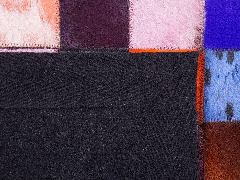 tapis patchwork multicolore 200x300 cm banu