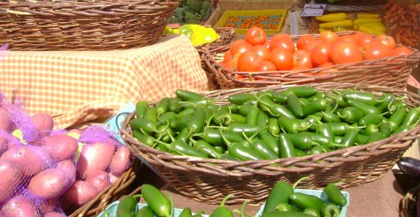 display peppers tomatoes at fms