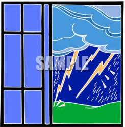 window outside clipart lightning clip open bolts royalty