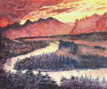 Sundown 10x12 Canvas