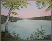 Bass Lake 16x20 Canvas (Private Collection)
