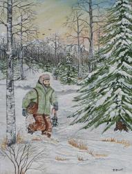 Trapper 16x12 Canvas